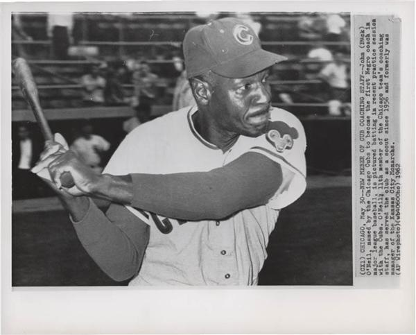 1962 Buck O'Neil Negro Leaguer Wire Photo