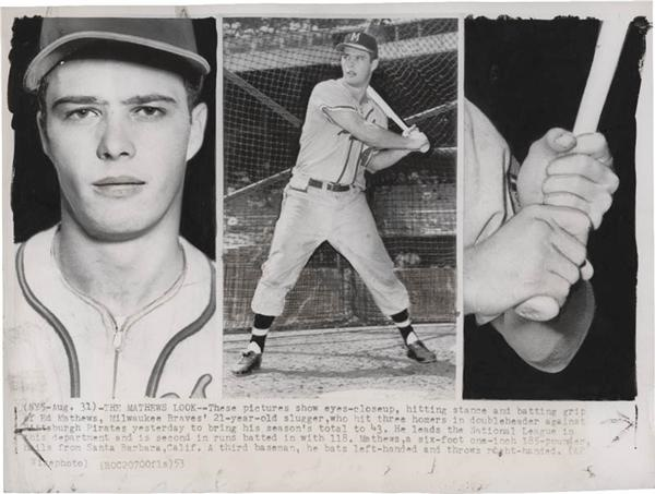 Eddie Mathews Baseball Photos (8)