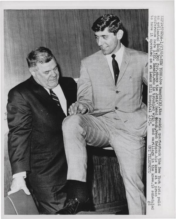 1965 Joe Namath Wire Photo
