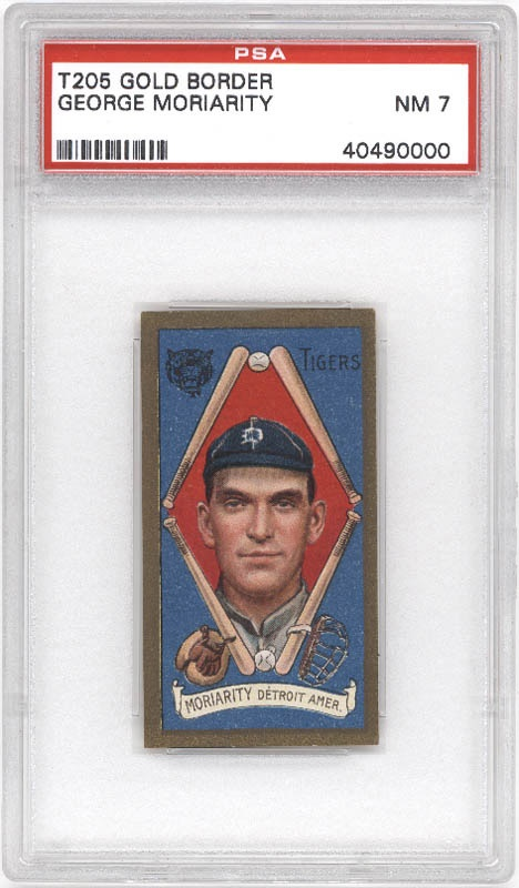 T205 George Moriarity Tobacco Card PSA 7 Near Mint