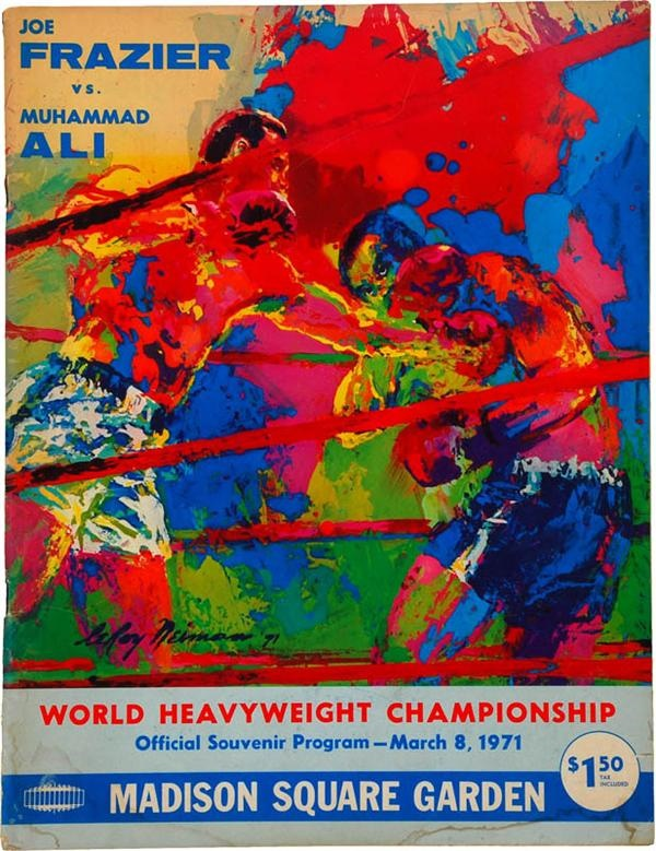 1971 Muhammad Ali vs Joe Frazier Boxing Program