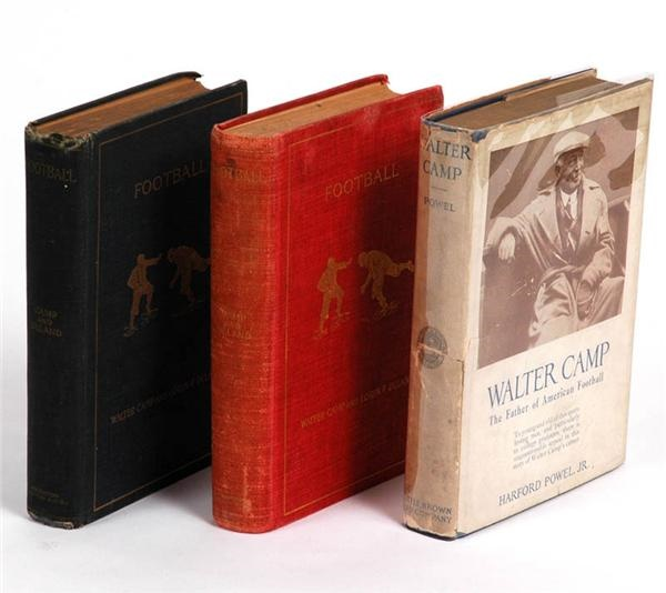 Football Hardcover Books by Walter Camp (3)