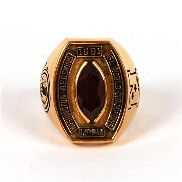 1991Washington Redskins 12th Man NFL Championship Ring