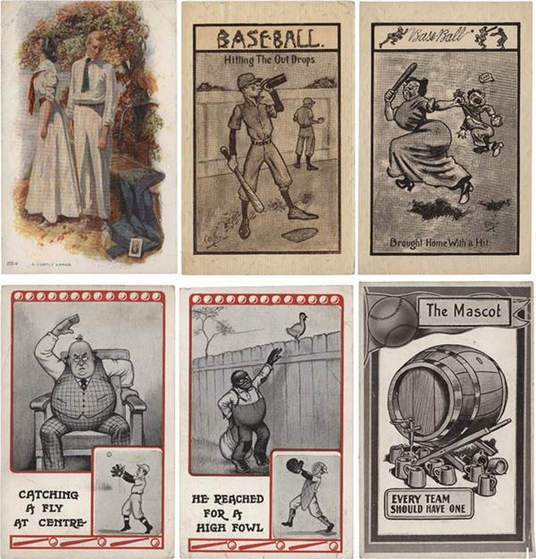 (5) Pre-1920 Baseball Series Postcards with (38) cards