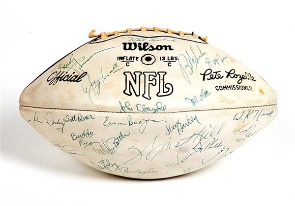 1971 New York Jets Team Signed Football