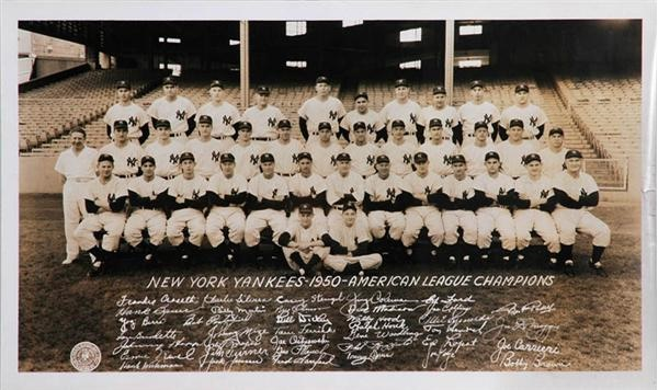 1950 New York Yankees Panoramic Photo from Dimaggio Estate