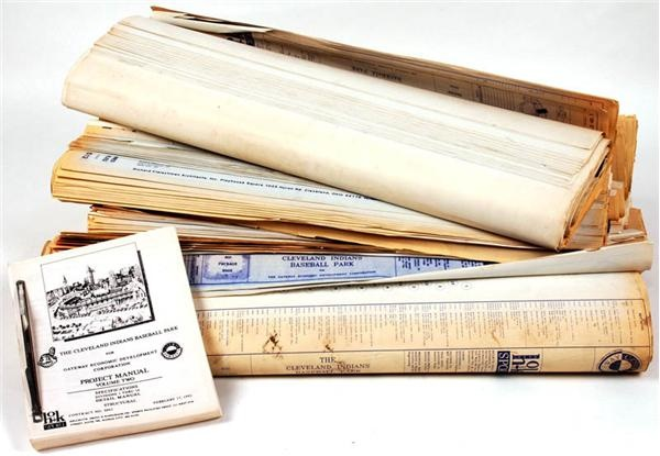 Huge Collection of Cleveland Jacobs Field Construction Blue Prints