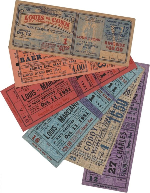 Joe Louis Boxing Full Tickets (6)