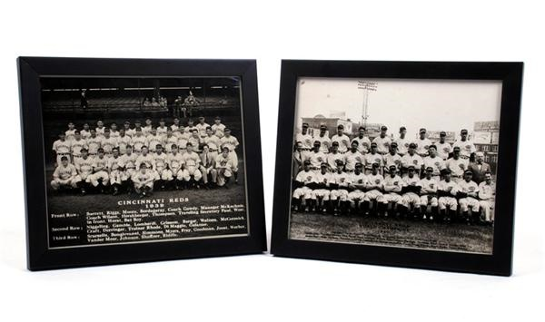 1939 and 1940 Cincinnati Reds Original Team Photos (2)