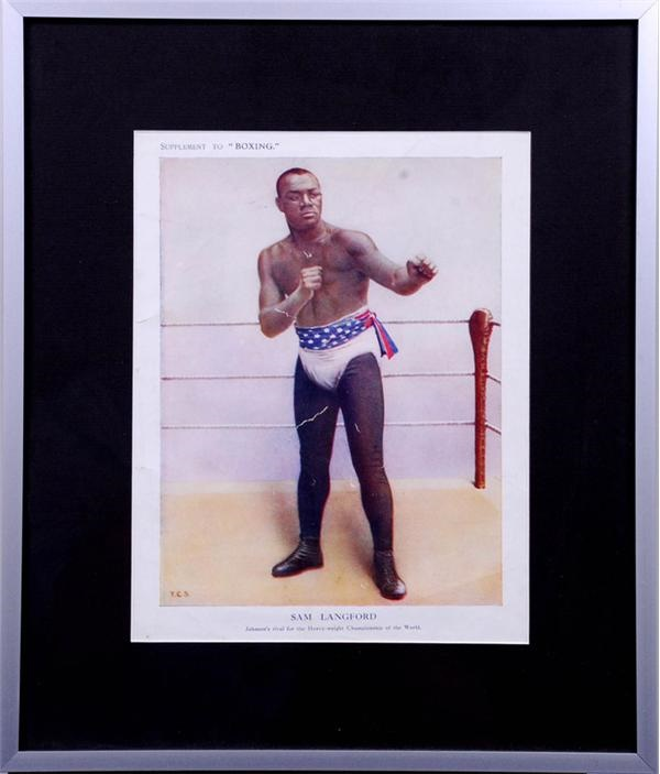 1911 Sam Langford Boxing Magazine Color Supplement