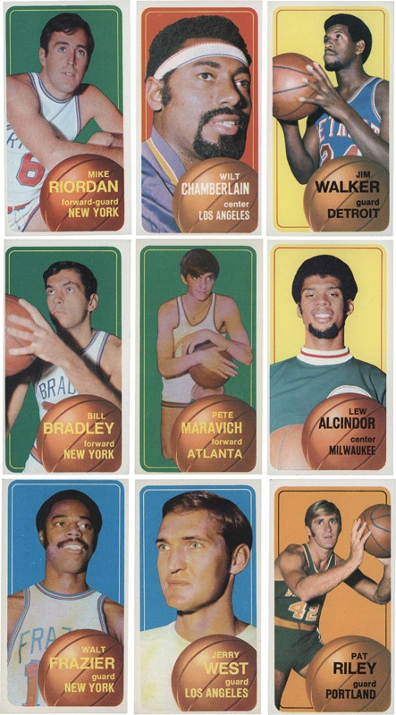1970/71 Topps Basketball Card Near Set EX-MT
