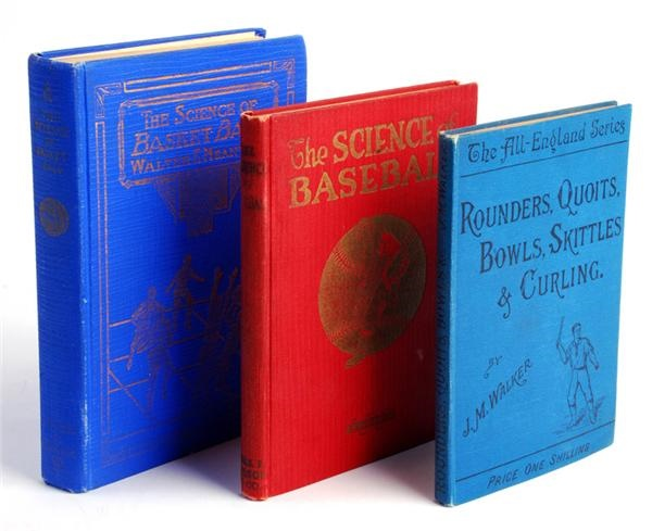 (3) Vintage Baseball, Basketball & Boxing Hardcover Books some 1st Edition