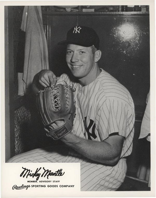 Mickey Mantle Rawlings Advisory Staff Promotional Photo (1950s)