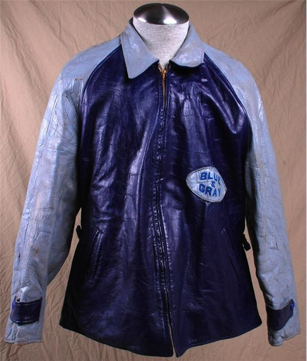 1948 Johnathan Jenkins Blue-Gray Football Game Used Leather Jacket