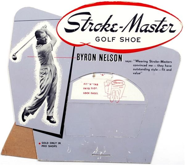 Byron Nelson Stroke-Master Golf Advertising Sign