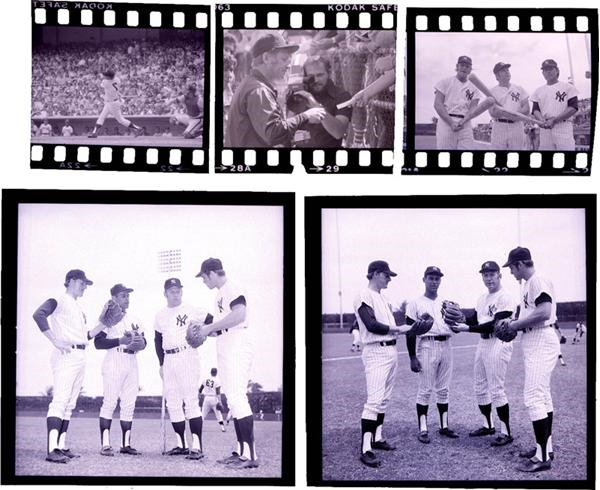 1970s Mickey Mantle Old Timers Day Original Negatives (5)