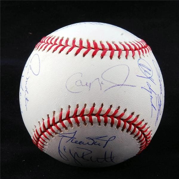 3,000 Hit Club Signed Baseball with 17 Signatures & STEINER