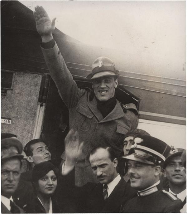 Primo Carnera in Fascist Uniform (1933)