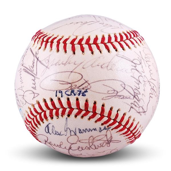 Near Mint 1975 World Champion Cincinnati Reds Team Signed Baseball