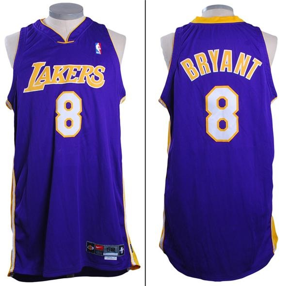 2000 - 01 Kobe Bryant Game Used Lakers Jersey