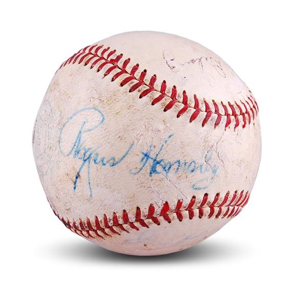 1952 Rogers Hornsby Signed Baseball