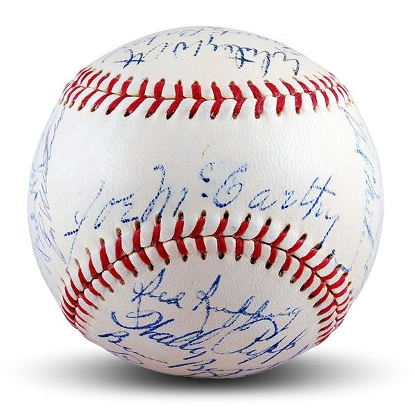 1950's New York Yankees Old Timers Signed Baseball with Frank Baker