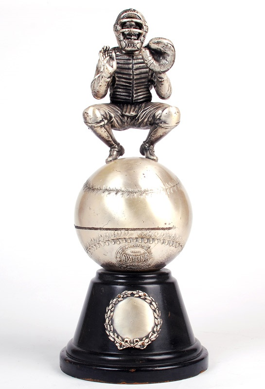 1920's Spalding Figural Catcher Trophy