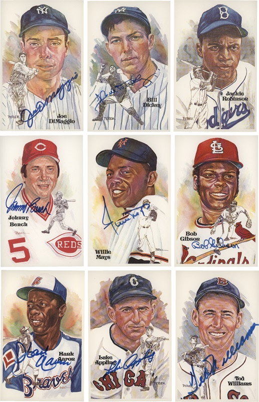 Complete Perez-Steele Post Card Set Number  357 with 73 Signed