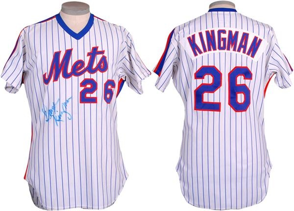 1983 Dave Kingman New York Mets Game Used Baseball Jersey