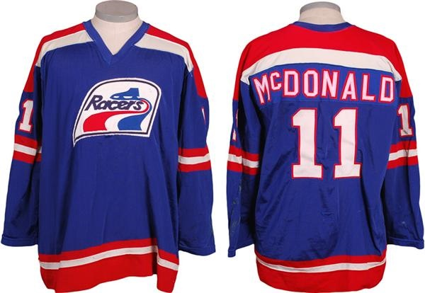 1974-75 Brian McDonald Indianapolis Racers WHA Game Worn Jersey