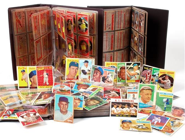 1950's-1960's Shoe Box Collection of Topps, Bowman and Fleer Baseball Cards (500+)