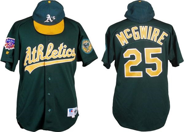 best website a784f f579e 1997 Mark McGwire Oakland A's Game Used Jersey and Hat