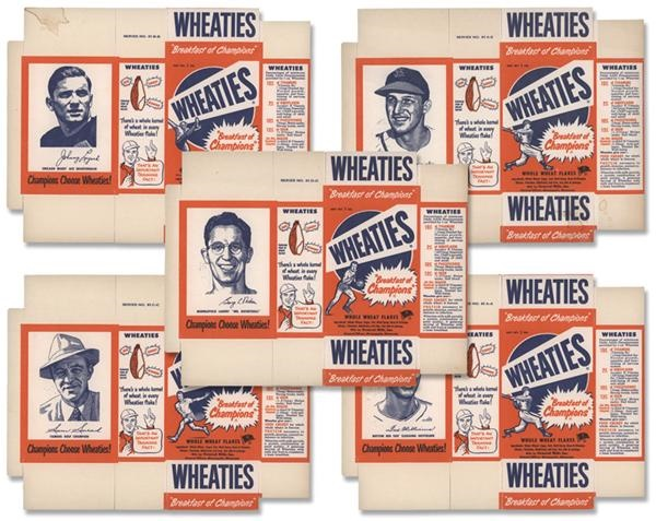 1951 Wheaties Trading Cards Complete Set on Full Boxes (6)