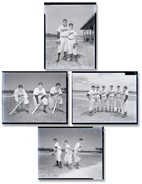 Amazing Lot of 1953 Cleveland Indians Baseball Negatives (98)