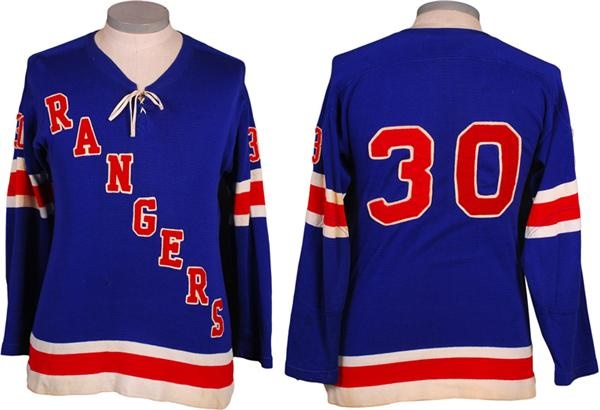 1960's Rangers Minor League Hockey Game Worn Jersey