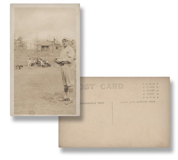 Babe Ruth Real Photo Postcard as a Boston Red Sox
