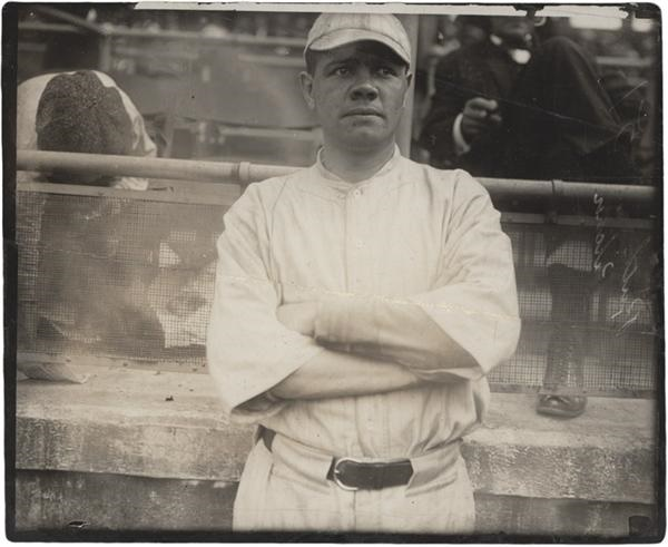 Babe Ruth with the Boston Red Sox (Circa 1918)