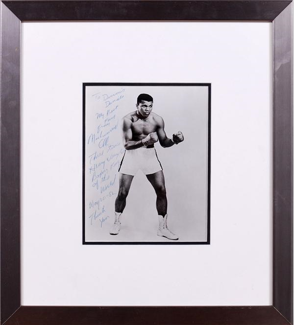 Muhammad Ali Signed Photo with Lengthy Inscription