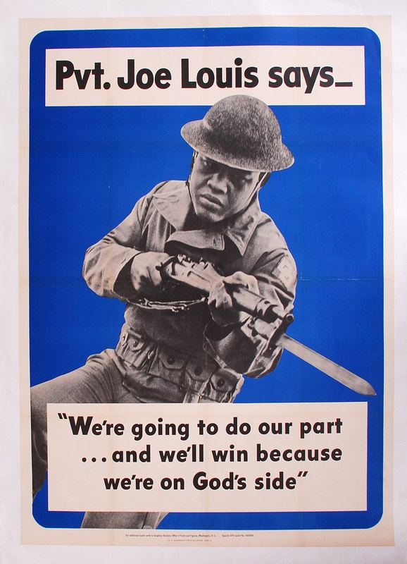 1942 Joe Louis One Sheet Military Poster