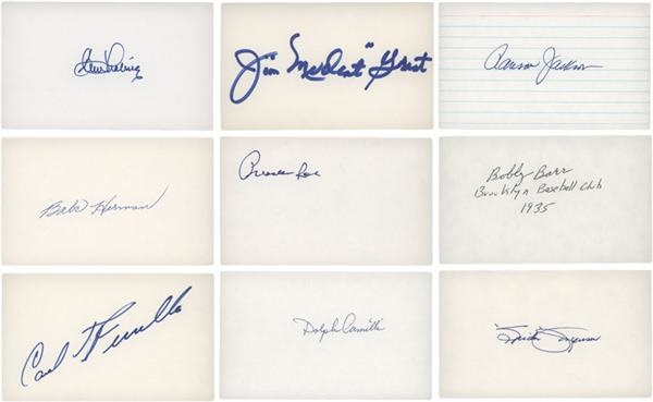 Large Collection of Brooklyn and Los Angeles Dodgers Signed 3