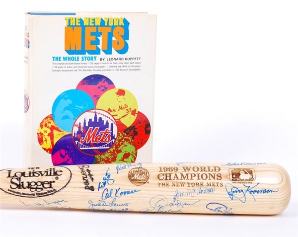 1969 New York Mets Signed Bat and