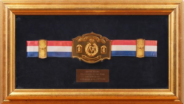 1952 Archie Moore Boxer of the Year Award Belt