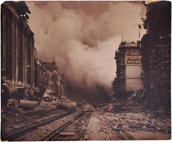 Amazing San Francisco Earthquake Oversized Photograph (1906)