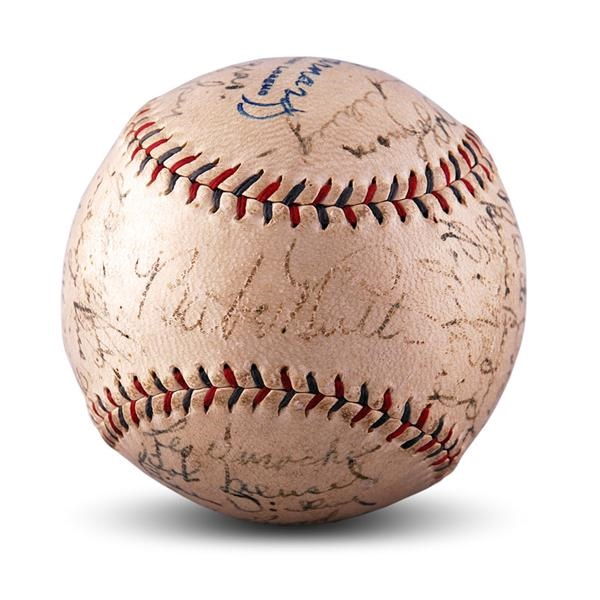 1929 New York Yankees Team Signed Baseball