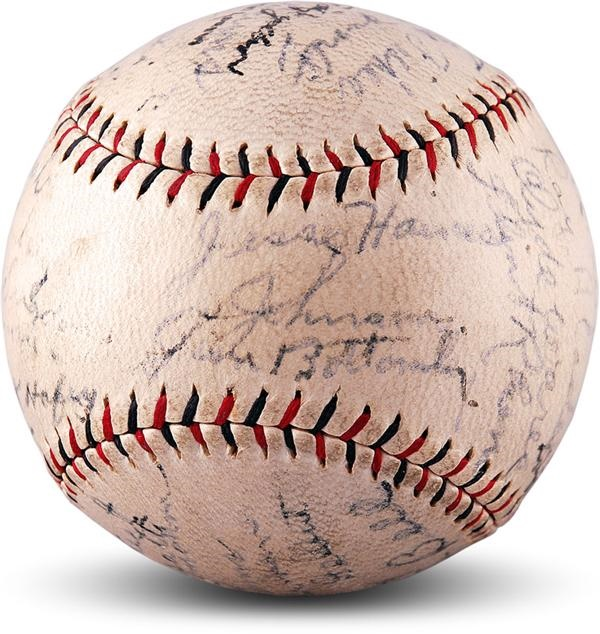 1930 St Louis Cardinals NL Champions Team Signed Baseball