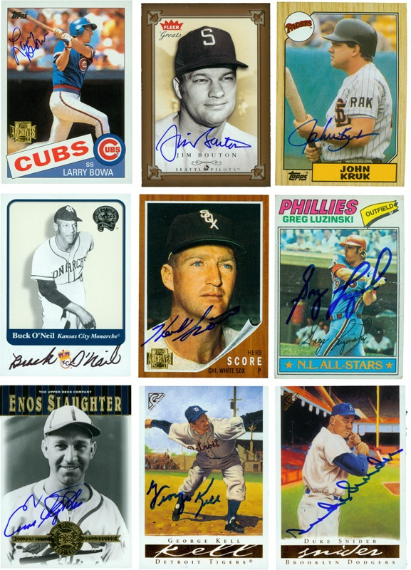 124 Signed Baseball Card Collection