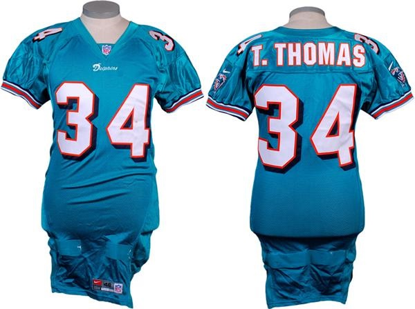 2000 Thurman Thomas Game Used Miami Dolphins Jersey