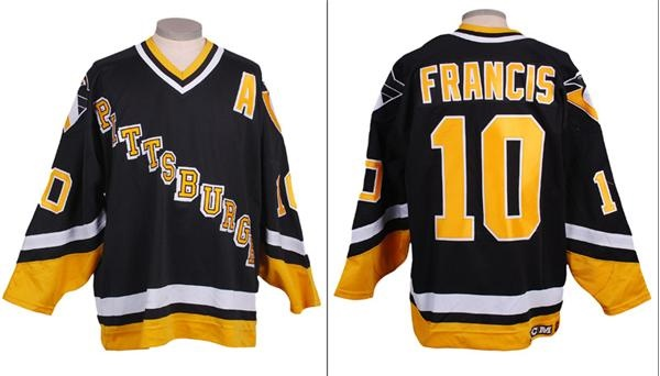 brand new db76f 59ba9 Circa 1993-94 Ron Francis Pittsburgh Penguins Game Worn Jersey