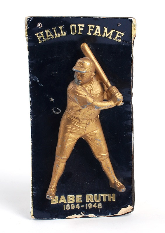 1957 Babe Ruth Hall of Fame Red Top Advertising Display