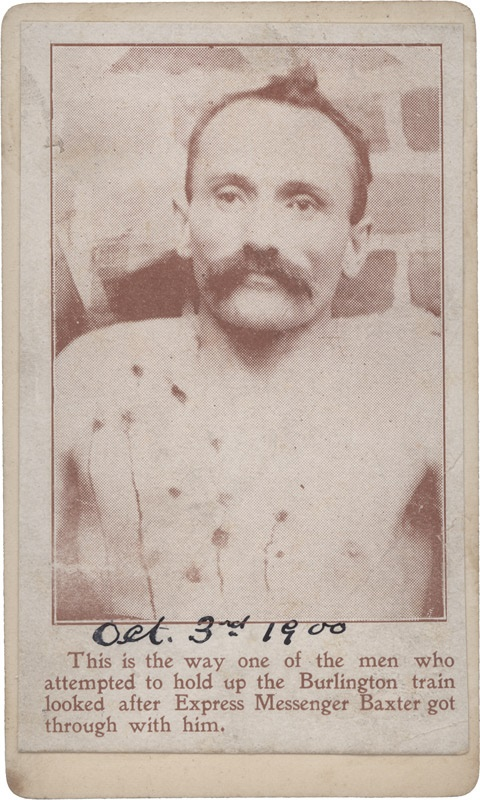 1900 Murdered Wild West Outlaw on CDV Mount